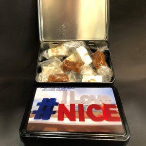 Chocolatier - Boîte de nougats caramels I LOVE NICE v1