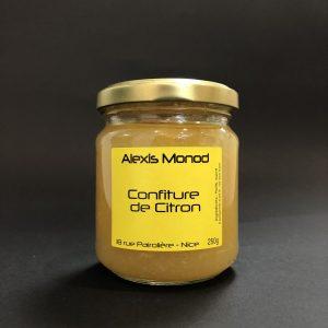Chocolaterie à Nice Alexis Monod Confiture Citron
