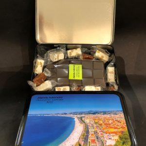 Boîte de nougats caramels - Confiserie à Nice Boîte Promenade Des Anglais V2