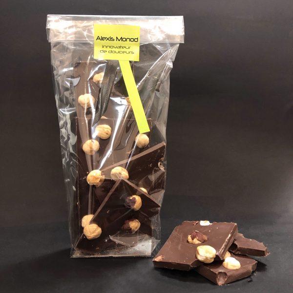 Chocolaterie à Nice noir noisettes entières