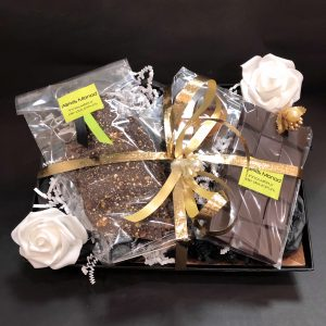 Coffret cadeau Ségurane - Chocolaterie à Nice Panier le Ségurane assortiment de chocolat