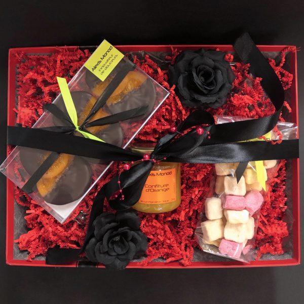 Coffret cadeau Paradis - Chocolaterie à Nice Alexis Monod Panier Paradis