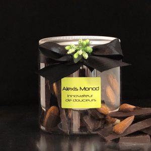 Chocolaterie et confiserie à Nice - chocolat concassé noir aux amandes
