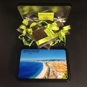Chocolaterie Alexis Monod - Boîte de deux tablettes de chocolat promenade des anglais
